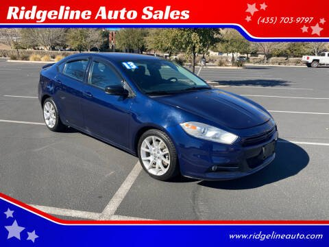 2013 Dodge Dart for sale at Ridgeline Auto Sales in Saint George UT