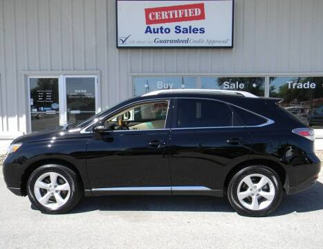 2010 Lexus RX 350 for sale at Certified Auto Sales in Des Moines IA