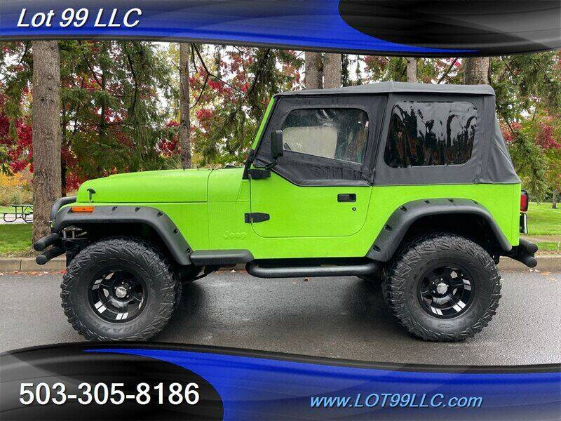 1992 Jeep Wrangler for sale at LOT 99 LLC in Milwaukie OR