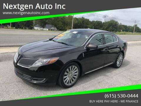 2013 Lincoln MKS for sale at Nextgen Auto Inc in Smithville TN