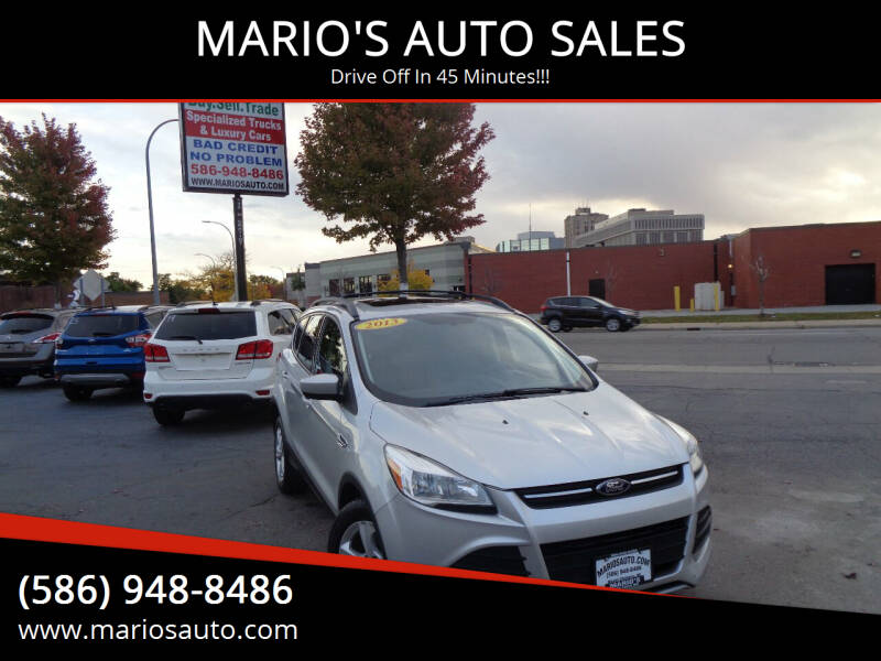 2013 Ford Escape for sale at MARIO'S AUTO SALES in Mount Clemens MI