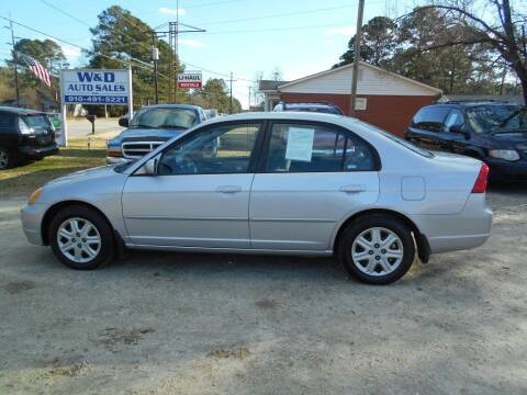 2003 Honda Civic for sale at W & D Auto Sales in Fayetteville NC