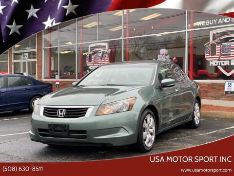 2010 Honda Accord for sale at USA Motor Sport inc in Marlborough MA