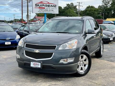 2012 Chevrolet Traverse for sale at Supreme Auto Sales in Chesapeake VA