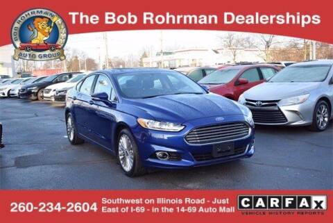 2015 Ford Fusion for sale at BOB ROHRMAN FORT WAYNE TOYOTA in Fort Wayne IN