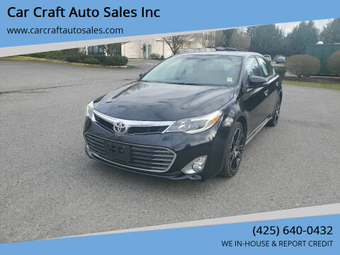 2015 Toyota Avalon for sale at Car Craft Auto Sales Inc in Lynnwood WA