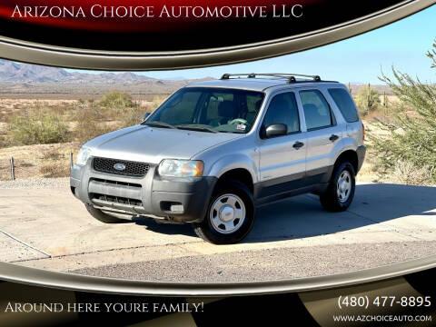 2002 Ford Escape for sale at Arizona Choice Automotive LLC in Mesa AZ
