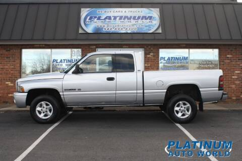 2001 Dodge Ram Pickup 1500 for sale at Platinum Auto World in Fredericksburg VA
