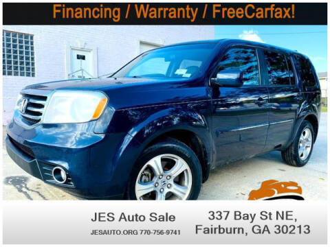 2012 Honda Pilot for sale at JES Auto Sales LLC in Fairburn GA