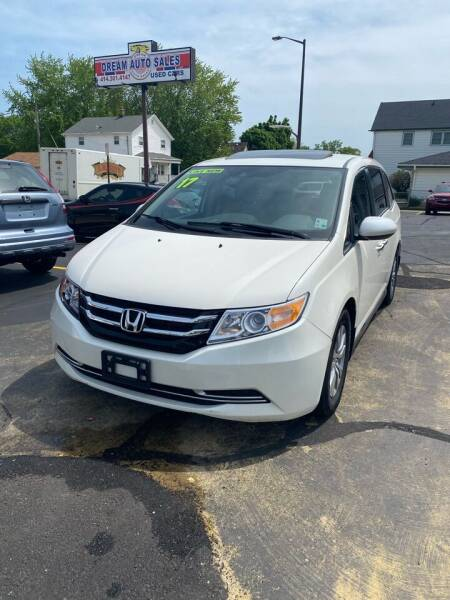 2017 Honda Odyssey for sale at Dream Auto Sales in South Milwaukee WI