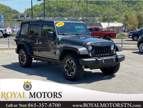 2016 Jeep Wrangler Unlimited for sale at ROYAL MOTORS LLC in Knoxville TN