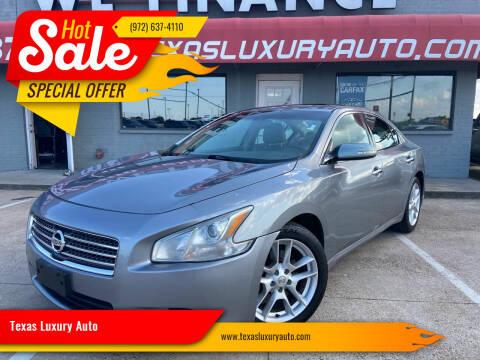 2009 Nissan Maxima for sale at Texas Luxury Auto in Cedar Hill TX
