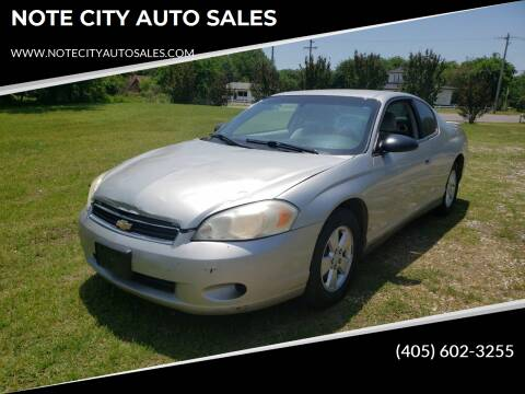2006 Chevrolet Monte Carlo for sale at NOTE CITY AUTO SALES in Oklahoma City OK
