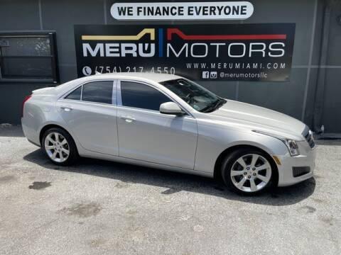 2014 Cadillac ATS for sale at Meru Motors in Hollywood FL
