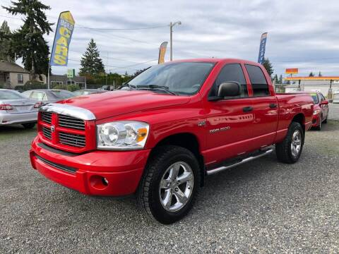 2007 Dodge Ram Pickup 1500 for sale at A & V AUTO SALES LLC in Marysville WA
