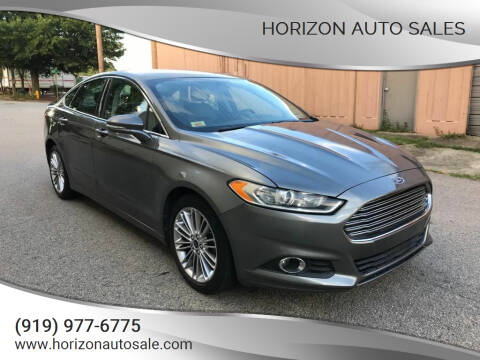 2014 Ford Fusion for sale at Horizon Auto Sales in Raleigh NC