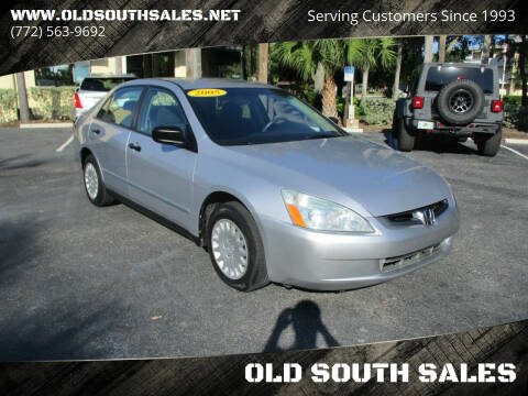 2005 Honda Accord for sale at OLD SOUTH SALES in Vero Beach FL