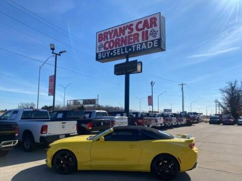 2016 Chevrolet Camaro for sale at Bryans Car Corner in Chickasha OK