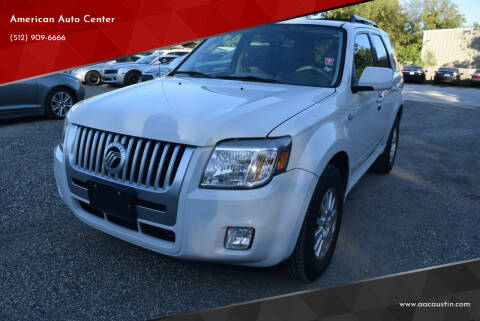 2009 Mercury Mariner for sale at American Auto Center in Austin TX