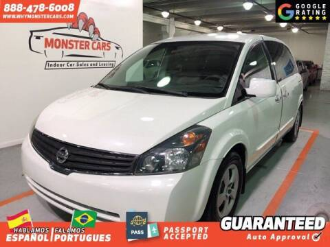 2008 Nissan Quest for sale at Monster Cars in Pompano Beach FL