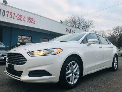 2014 Ford Fusion for sale at Trimax Auto Group in Norfolk VA