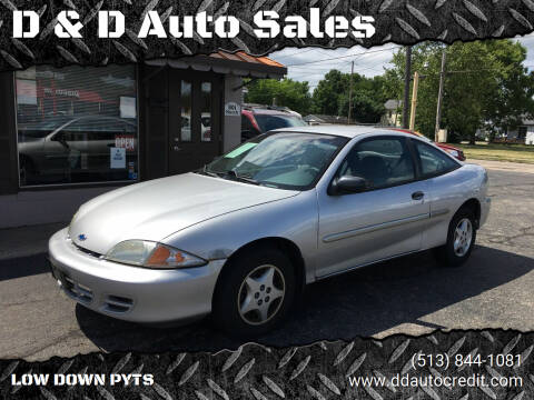 2002 Chevrolet Cavalier for sale at D & D Auto Sales in Hamilton OH