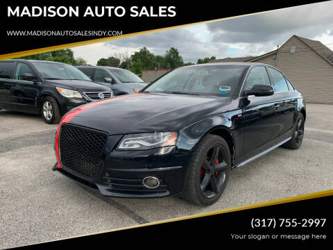 2012 Audi A4 for sale at MADISON AUTO SALES in Indianapolis IN