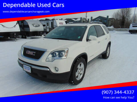 2007 GMC Acadia for sale at Dependable Used Cars in Anchorage AK