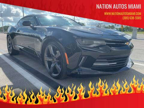 2016 Chevrolet Camaro for sale at Nation Autos Miami in Hialeah FL