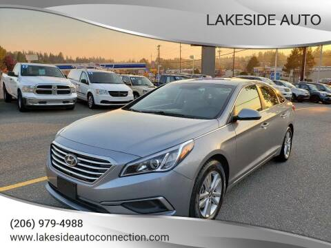 2016 Hyundai Sonata for sale at Lakeside Auto in Lynnwood WA