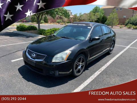 2008 Nissan Maxima for sale at Freedom Auto Sales in Albuquerque NM