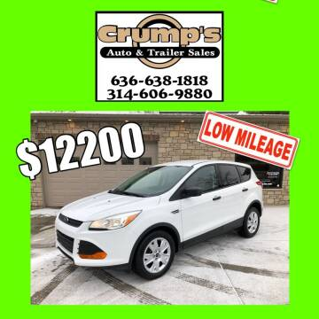 2015 Ford Escape for sale at CRUMP'S AUTO & TRAILER SALES in Crystal City MO