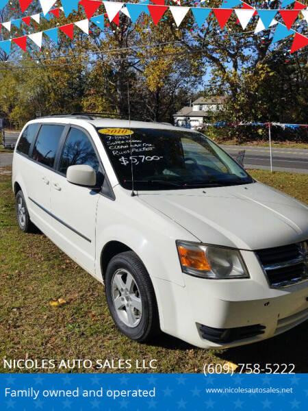 2010 Dodge Grand Caravan for sale at NICOLES AUTO SALES LLC in Cream Ridge NJ