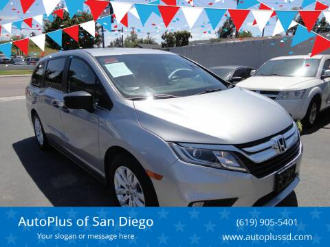 2018 Honda Odyssey for sale at AutoPlus of San Diego in Spring Valley CA