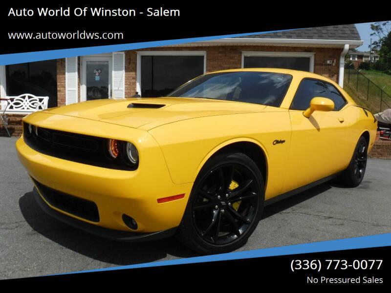 2018 Dodge Challenger for sale at Auto World Of Winston - Salem in Winston Salem NC