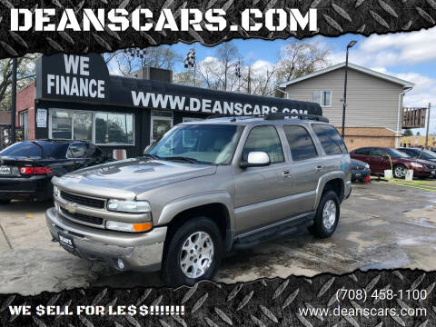 2003 Chevrolet Tahoe for sale at DEANSCARS.COM in Bridgeview IL
