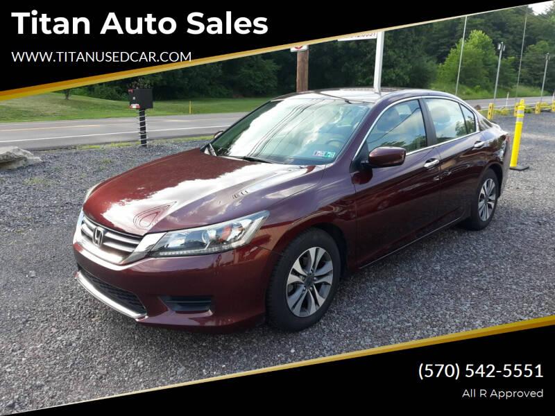 2013 Honda Accord for sale at Titan Auto Sales in Berwick PA