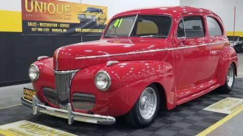 1941 Ford Deluxe for sale at UNIQUE SPECIALTY & CLASSICS in Mankato MN