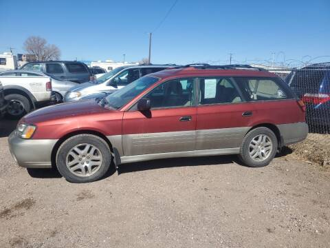 2003 Subaru Outback for sale at PYRAMID MOTORS - Fountain Lot in Fountain CO