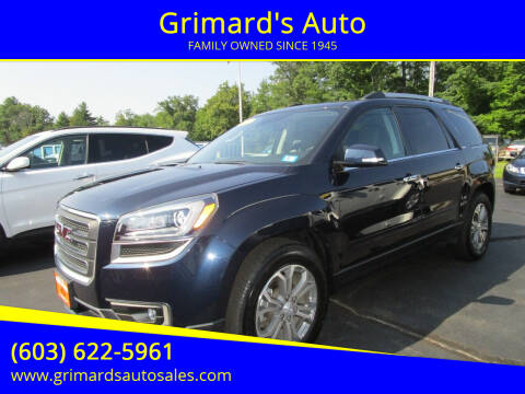 2016 GMC Acadia for sale at Grimard's Auto in Hooksett NH