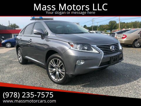 2013 Lexus RX 450h for sale at Mass Motors LLC in Worcester MA