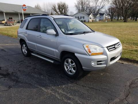 2008 Kia Sportage for sale at CALDERONE CAR & TRUCK in Whiteland IN