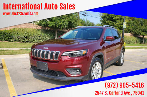 2019 Jeep Cherokee for sale at International Auto Sales in Garland TX
