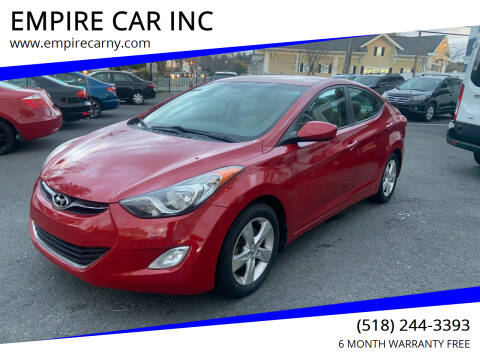 2013 Hyundai Elantra for sale at EMPIRE CAR INC in Troy NY
