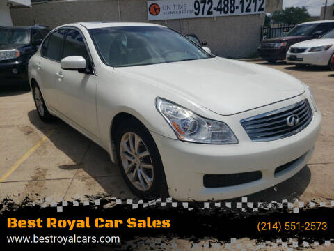 2008 Infiniti G35 for sale at Best Royal Car Sales in Dallas TX