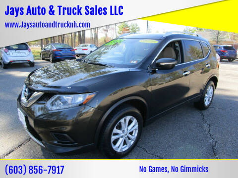 2015 Nissan Rogue for sale at Jays Auto & Truck Sales LLC in Loudon NH