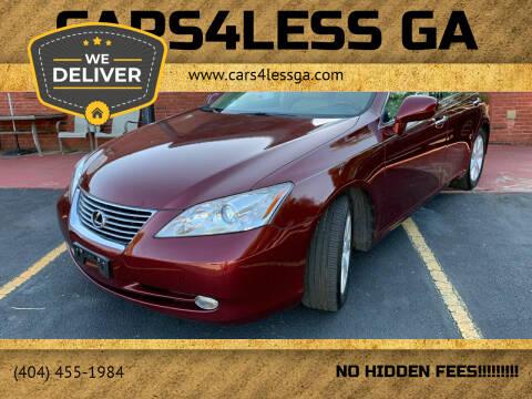 2007 Lexus ES 350 for sale at Cars4Less GA in Alpharetta GA