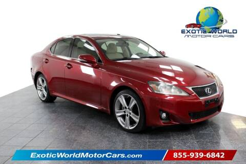 2011 Lexus IS 250 for sale at Exotic World Motor Cars in Addison TX