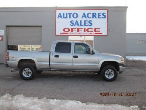 2002 GMC Sierra 2500HD for sale at Auto Acres in Billings MT