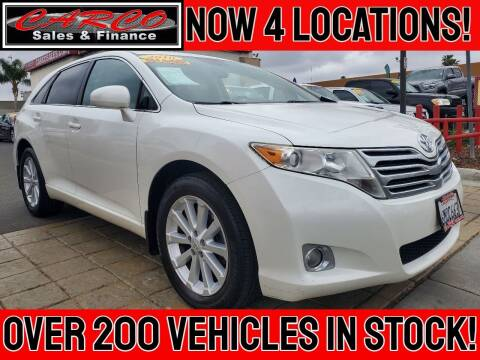 2010 Toyota Venza for sale at CARCO SALES & FINANCE in Chula Vista CA